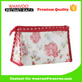 Manufacturer Price Flower Cosmetic Bag PU Leather for Travel