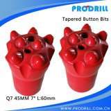 45mm Taper Knock Drilling Bits Button Bits 7 Degree Bits for Rock