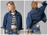 Wholesale Women Clothes Casual Denim Jacket with Bf Style