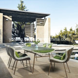 SGS Certificated Rattan Outdoor Furniture by 6 People Dining Table Set