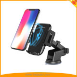 2018 New Arrival Car Holder Qi Wireless Fast Charger with Suction /Vent Mount