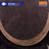 Lace with Durable PU Coating Sides Back Hot Sell Human Hair Men's Hair Topper