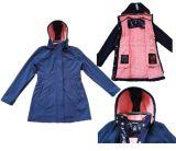 Fashion Women Softshell Jacket with Detachable Hood (SM-2016)
