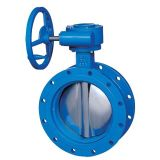 Gear Operated Double Disc Butterfly Valve