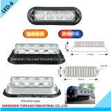 4 PCS LED Emergency Strobe Lighthead, LED Warning Light for Police Car Fire Truck (E4)
