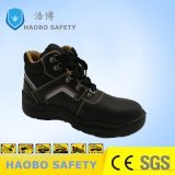 Middle Ankle Buffalo Leather Safety Shoes for Industrial Use