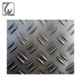 Diamond Checkered Pattern Stainless Steel Embossed Decorative Plate