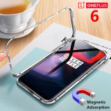 Sinbeda Magneto Magnetic Adsorption for Oneplus 6 1+6 Tempered Glass Case Full Cover Fitted for One Plus 6 1+6 Metal Glass Case