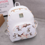 Ladies Leisure Travel Bag Fashion Trend Butterfly Printed Backpack Wholesale Leather Backpacks