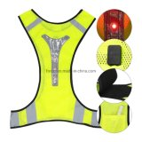High Visibility Waistcoat LED Safety Vest with LED Reflective Stripes for Night Outdoor Traffic Activities Running, Cycling, Walking and Working