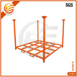 Galvanized Foldable Stackable Commercial Storage Tire Rack Metal Truck Tyre Racking