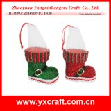 Christmas Decoration (ZY14Y185-1-2) Blingbling Christmas Shoe Christmas Motif