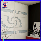 Flower Pattern Sliding Door Wardrobe (ZH078)