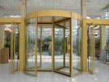 Golden Color Surface Manual and Automatic Operation Revolving Door