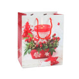 Christmas Holiday Design Cheap Custom Art Paper Gift Bags
