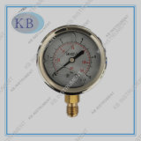 Stainless Steel Glycerine Oil Filled Pressure Gauge Manometer