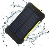 Dual USB Ports Outdoor Portable Power Bank Solar Battery Charger 10000mAh Phone Charger with LED Light