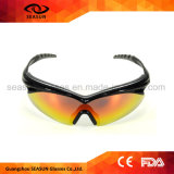 Novelty Latest Models PC Shatterproof UV Protected Cycling Sunglasses Running Riding Glasses