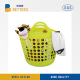 Hot Sale 24L Plastic Laundry Basket for Clothing Cleaning