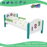 Preschool Rustic Wooden Single Bed with Plastic Stretcher (HG-6303)