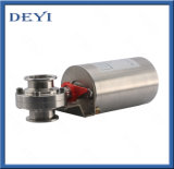 Sanitary Stainless Steel Hygienic Pneumatic Butterfly Valve with Clamp Ends