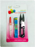 Sewing Craft Packed by Blister Card, Scissors, Measuring Tape and Seam Ripper Sets