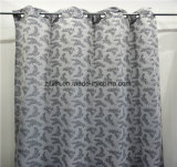 2018 The Hot Selling Gray Leaf Polyester Room Curtain Cloth Fabric