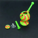 Glass Silicone Smoke pipe for Dry Herb and Wax Vaporizer