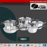 Wholesale 11PCS Cookware Set, Stainless Steel Kitchenware, Induction Ready, Kitchen Utensils