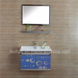 Direct Supply Stainless Steel Bathroom Vanity with Shelf