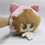 Cute Pink Girl Throw Pillow Warm Hand Plush Soft Toy Pillow for Warm Hands