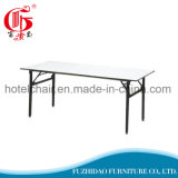 Popular Steel Folding Dining Table with PVC Cover