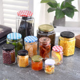 Glass Food Containers and Jars with Metal Cap, Twist off Cap, Screw Cap