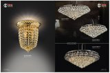 Round K9 Crystal Golden Pendant Light