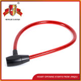 Jq8205high-Quality Bicycle Lock Motorcycle Steel Cable Lock with Pvu
