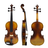 Solid Wood Satin Antique Violin with Hard Case, Bow, Rosin (Full Size)