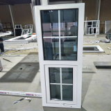 Grill Design Double Glazed White Profile UPVC Casement Window for Project