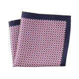 Luxury Silk Polyester Dots Printed Pocket Square Hanky Handkerchief (SH-054)