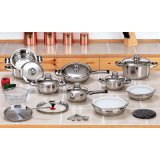Nonstick Stainless Steel 28 PCS Cookware Set with Lid