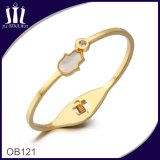 Gold Buddha Hand Stainless Steel Bangle Ob121