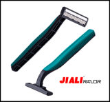 Rubber Handle Stainless Steel Triple Blade Disposable Razor (SL-3018TL)