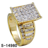 Micro Setting Two Tone Plating Silver Jewelry Ring Wholesale