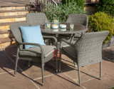 Factory Supply Wholesale White Rattan Aluminium Outdoor Furniture Garden Set
