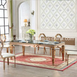 Wholesale Rose Gold Stainless Steel Dining Table for Sale