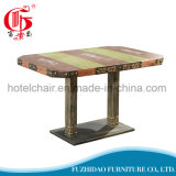Hot Sale Antique Wooden Square Dining Coffee Table