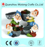 Custom Outdoor Decoration Resin Gnomes Flower Plant Pot