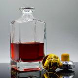 Custom Bulk 700ml Square Shape High End Clear Liquor Bottle Glass Price