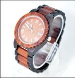Fashion Ebony Wooden Watch Wood Dial Quartz Brand Watches