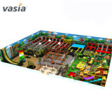 Large Indoor Play Falicity Equipment Trampoline Rope Course Soft Playground Equipment with Ninja Warrior