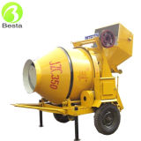 350 Liter Reversible Drum Electric Concrete Mixer with Towable Wheels